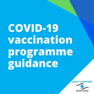 "Two #SightSupportWorthing Trustees recently attended a #VaccinationChampions training session. The aim of the session was to educate its participants about how the #COVID19 vaccination programme works.  The following information is designed to help Sight Support Worthing members understand the COVID-19 vaccination programme and, in particular, any aspects that may be of particular relevance to those with #visualimpairment. This information has been interpreted by the two Vaccine Champions, and they have provided it in no particular order, although the point is in bold for anything believed to be especially important.  a. Everyone over the age of 70 is scheduled to be vaccinated by mid-February. Within the priority Groups, there is no specific order in which these people are contacted.  b. Patients will be contacted – you should not try to phone for an appointment yourself.  c. The second (of the 2 required vaccinations) will be up to 12 weeks after the initial vaccination.  d. The initial vaccine will take 2 weeks before creating an effective immunisation; normal COVID restrictions must be followed during that period.  e. All vaccines require a needle; nose sprays or other options are not yet available. If you have a needle ""phobia"" please make that clear when confirming the appointment so that you can be treated in a less public setting  f. The restriction ""rules"" do allow someone to transport you (or accompany you if it's close enough to walk). They may be permitted to stay with you but that is not always the case.  g. If you need transport, please contact the SSW office on 01903 235782. We are here to help – please use us.  f. The restriction ""rules"" do allow someone to transport you (or accompany you if it's close enough to walk). They may be permitted to stay with yo but that is not always the case.  g. If you need transport, please contact the SSW office on 01903 235782. We are here to help – please use us.  h. Sight Support Worthing has 4 ""Vaccine Champions"". If you would like to speak to one of them we will do our best to put you in touch with one.  If you have any particular concerns that you think we can help with, please do get in touch."