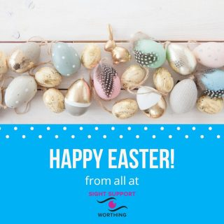 HAPPY EASTER!  We hope you all enjoy the long Easter weekend. From all at Sight Support Worthing  #VisuallyImpaired #VisualImpairment #VisionImpaired #Blind #Blindness #SightLoss #PartiallySighted #Worthing #Volunteer #SightSupport #WestSussex #Adur #HappyEaster