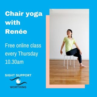 Each week we're running our online Chair Yoga session which is free and open to anyone with a visual impairment. It takes place on Thursdays at 10.30am. The hour long session is led by Renée who is an experienced yoga teacher. Participants are invited to either stand or use a chair, depending on their preference. For more info or to book a place contact info@sightsupportworthing.org.uk or call 01903 235782  #ChairYoga #OnlineYoga #Yoga #VisuallyImpaired #VisualImpairment #VisionImpaired #Blind #Blindness #SightLoss #PartiallySighted #Worthing #Volunteer #SightSupport #WestSussex #Adur
