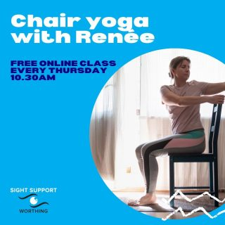 Have you joined us yet for our exclusive online yoga session with Renée? It's on Thursdays at 10.30am and open to anyone with a visual impairment. The moves can be done from a chair or standing, if you prefer. To find out more email us at info@sightsupportworthing.org.uk or phone 01903 235782  #Yoga #ChairYoga #VisuallyImpaired #VisualImpairment #VisionImpaired #Blind #Blindness #SightLoss #PartiallySighted #Worthing #Volunteer #SightSupport #WestSussex #Adur