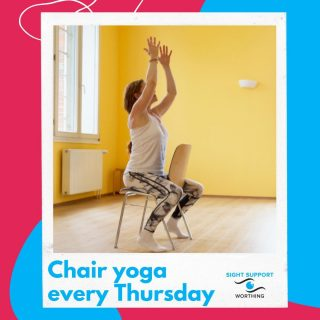 It's our regular reminder of the weekly oline Chair Yoga session with the wonderful Renée! Join us at 10.30am on Thursday for this relaxing hour. It's open to anyone with a visual impairment, wherever you might be! Drop us a line to find out more and book your space.  #VisuallyImpaired #VisualImpairment #VisionImpaired #Blind #Blindness #SightLoss #PartiallySighted #Worthing #Volunteer #SightSupport #WestSussex #Adur #ChairYoga #Yoga