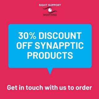 We're pleased to be able to offer 30% off Synapptic's products. They offer phones and tablets for people with sight loss. You can take a browse on their website to see what they offer.  Once you've decided on the product you'd like, please get in touch with us so we can place the order on your behalf and get the discount.  #VisuallyImpaired #VisualImpairment #VisionImpaired #Blind #Blindness #SightLoss #PartiallySighted #Worthing #Volunteer #SightSupport #WestSussex #Adur #Synapptic